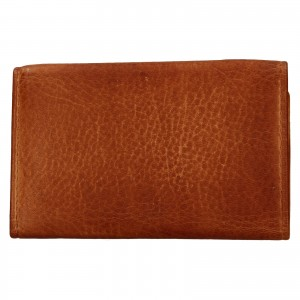 Dámská kožená slim peněženka Lagen Mellba - koňak