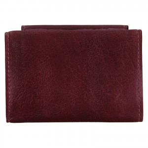 Dámská kožená slim peněženka Lagen Mellba - fialová