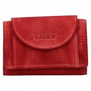 Dámská kožená slim peněženka Lagen Mellba - červená