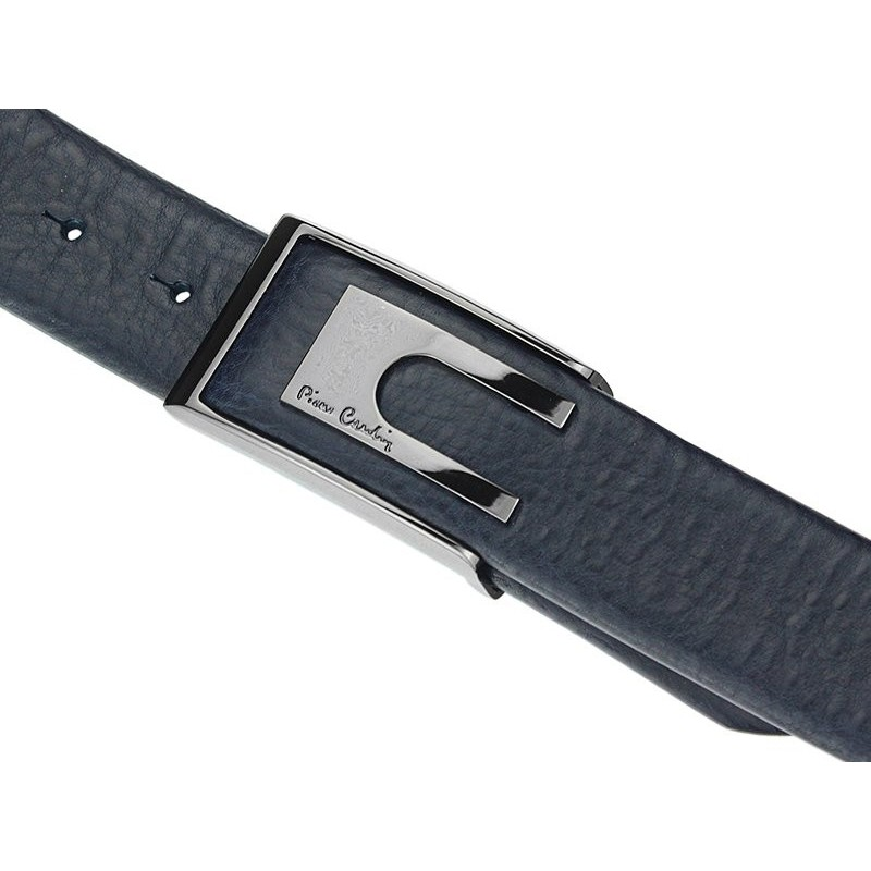 Hnědý kožený pánský opasek Pierre Cardin 8022