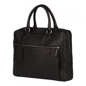 Pánská kožená taška na notebook Burkely Laptop - černá