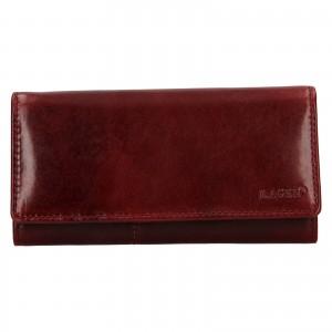 Dámská kožená peněženka Lagen Inge - tmavě červená