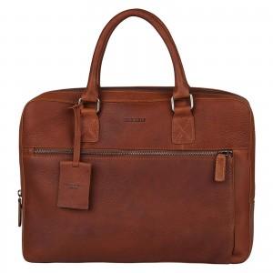 Pánská kožená taška na notebook Burkely Laptop - koňak