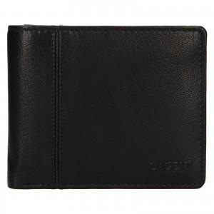 Pánská kožená peněženka Lagen Levi - černá