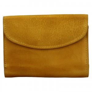 Dámská kožená peněženka Lagen Julie - žlutá