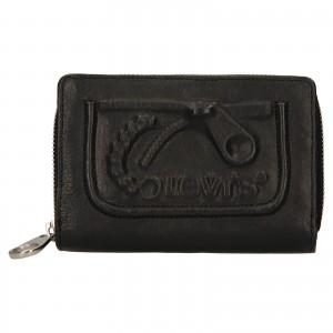 Dámská kožená peněženka Levi's Emma - černá