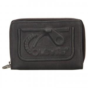 Dámská kožená peněženka Levi's Emma - šedá