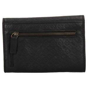 Dámská kožená peněženka Levi's Olivia - černá