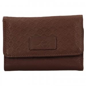 Dámská kožená peněženka Levi's Olivia - hnědá