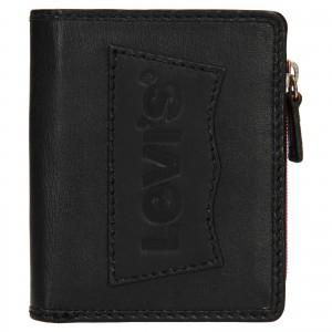 Pánská kožená peněženka Levi's Daniel - černá