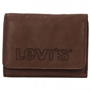 Pánská kožená peněženka Levi's Noah - hnědá