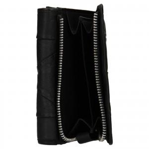Dámská kožená peněženka Levi's Ella- černá