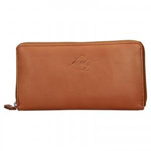 Dámská kožená peněženka Levi's Emily - hnědá
