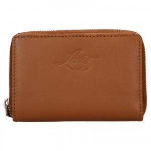 Dámská kožená peněženka Levi's Harper - hnědá