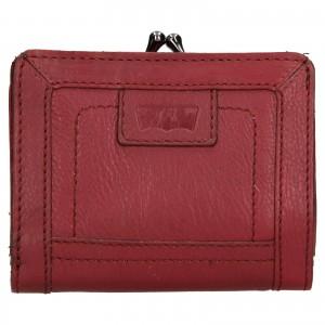 Dámská kožená peněženka Levi's Grace - vínová