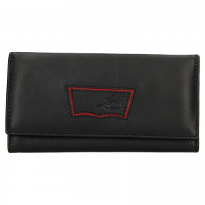 Dámská kožená peněženka Levi's Madison - černá