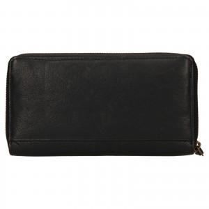 Dámská kožená peněženka Levi's Sofia - černá