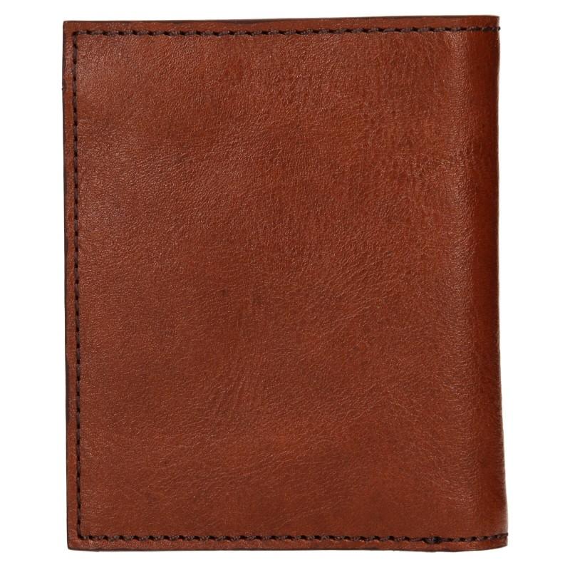 Pánská kožená peněženka Levi's Alexander - hnědá