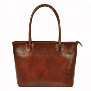 Dámská kožená kabelka Vera Pelle Alessia - hnědá