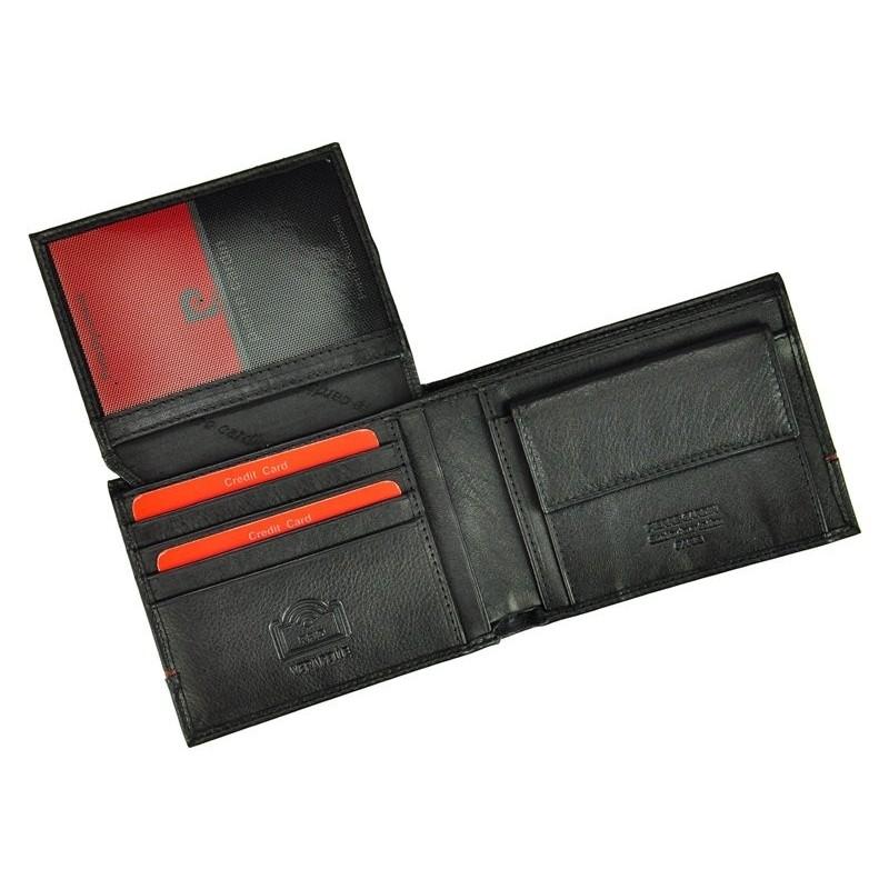 Pánská kožená peněženka Pierre Cardin Jean - černo-modrá