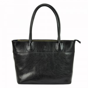 Dámská kožená kabelka Vera Pelle Alessia - černá