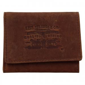 Pánská kožená peněženka Levi's Etham - hnědá