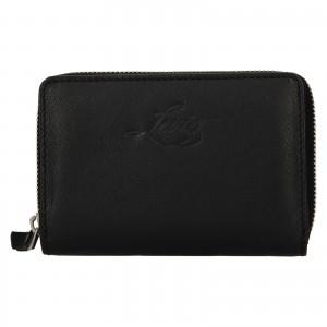 Dámská kožená peněženka Levi's Harper - černá