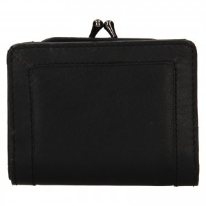 Dámská kožená peněženka Levi's Grace - černá