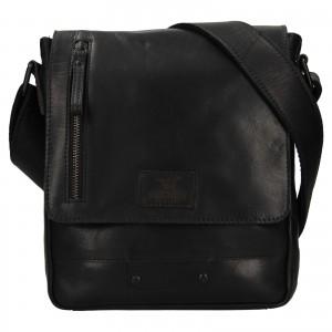 Pánská kožená taška přes rameno Mustang Atrhur - černá