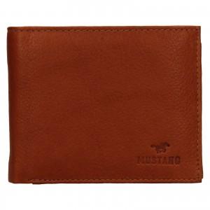 Pánská kožená peněženka Mustang David - koňak