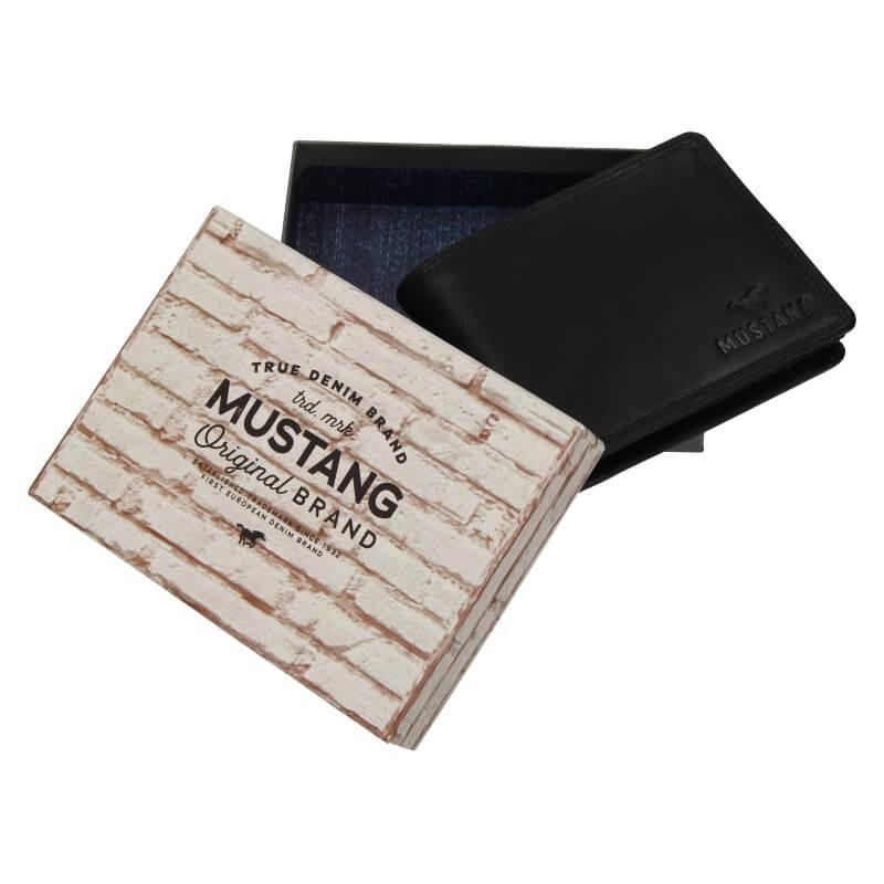 Pánská kožená peněženka Mustang Filip - černá