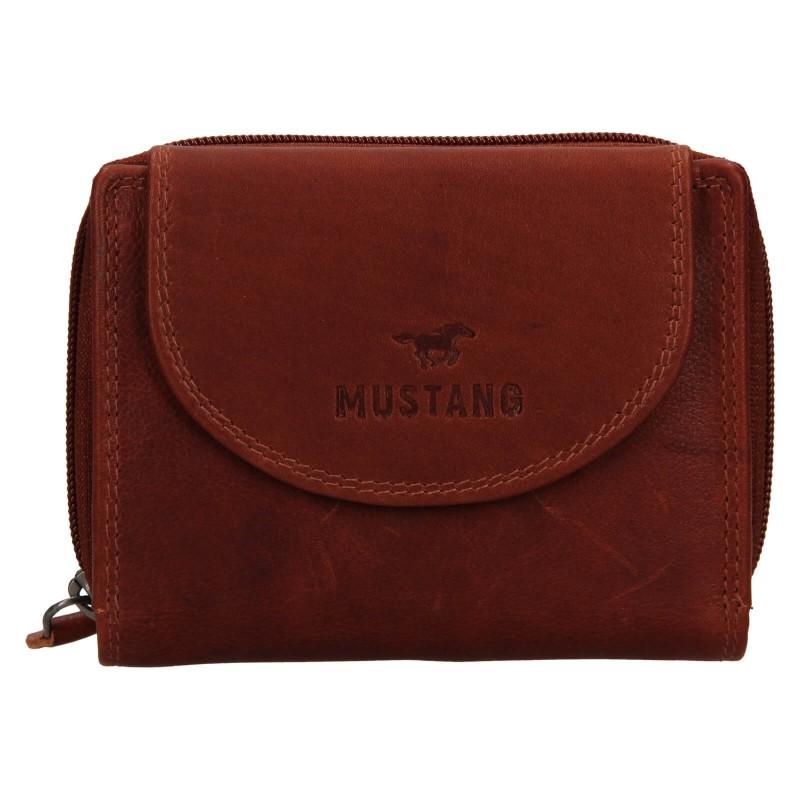Dámská kožená peněženka Mustang Alice - hnědá