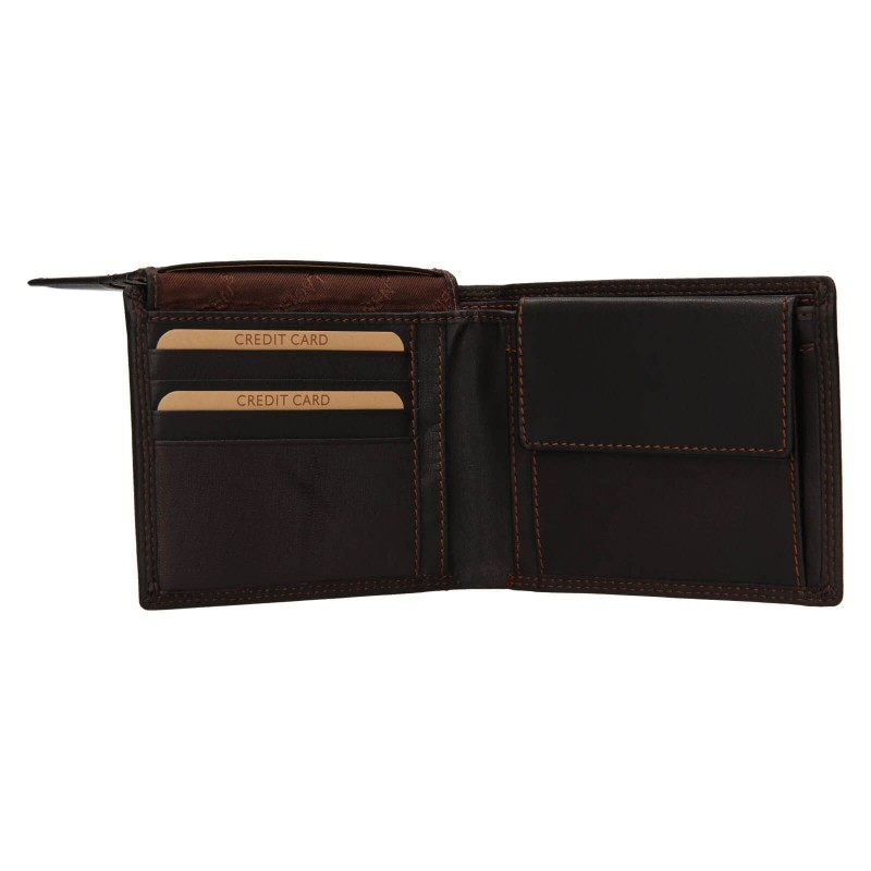 Pánská kožená peněženka Lagen Norbert - tmavě hnědá
