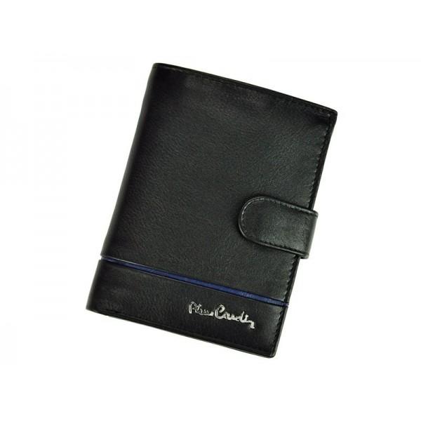 Pánská kožená peněženka Pierre Cardin Philippe - černo-modrá