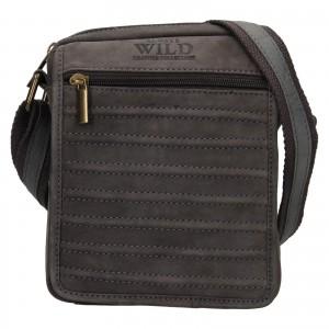 Pánská taška přes rameno Always Wild Robbe - šedo-černá
