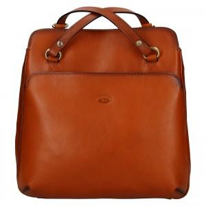 Dámská kožená batůžko kabelka Katana Emily - koňak