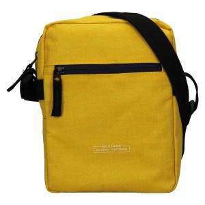 Pánská taška přes rameno Mustang Fabre - žlutá