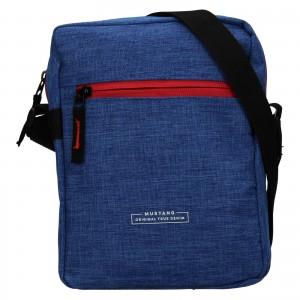 Pánská taška přes rameno Mustang Fabre - modrá