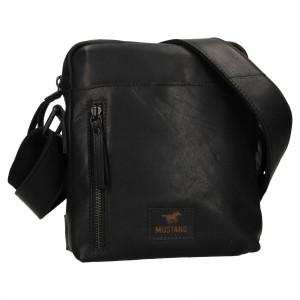 Pánská kožená taška přes rameno Mustang Dumas - černá