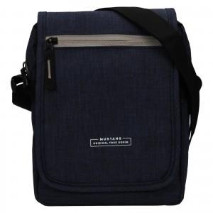 Pánská taška přes rameno Mustang Bobby - tmavě modrá