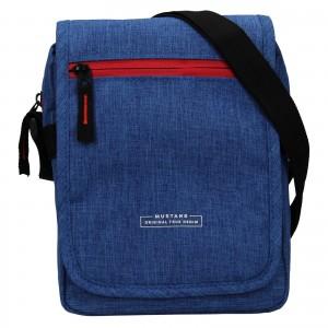 Pánská taška přes rameno Mustang Bobby - modrá
