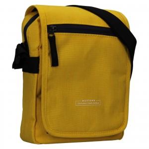 Pánská taška přes rameno Mustang Bobby - žlutá