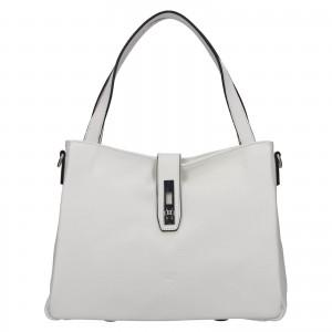 Elegantní dámská kožená kabelka Katana Cenia - bílá