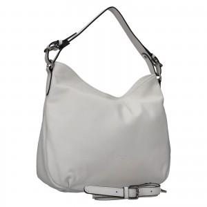 Elegantní dámská kožená kabelka Katana Mande - bílá