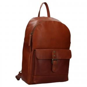 Pánský kožený batoh Ashwood Will - koňak