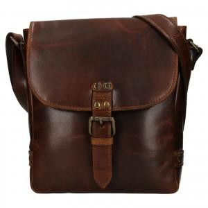 Pánská kožená taška přes rameno Ashwood Fion - hnědá