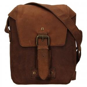 Pánská kožená taška přes rameno Ashwood Miro - hnědá