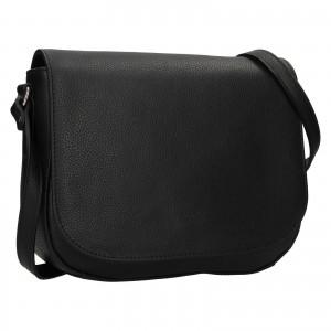 Kožená dámská crosbody kabelka Katana Matelde - černá