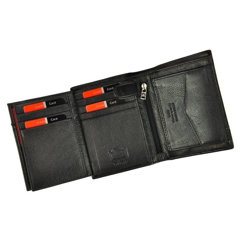 Pánská kožená peněženka Pierre Cardin Alain - černo-modrá