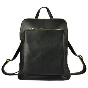 Kožený dámský batoh Vera Pell Lindes - černá